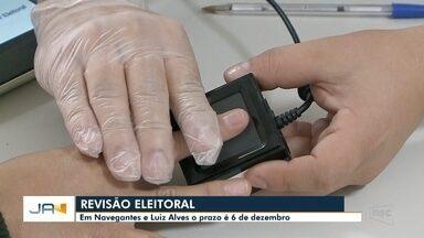 Revisão eleitoral termina nesta sexta (8) em três cidades do Vale - Revisão eleitoral termina nesta sexta (8) em três cidades do Vale