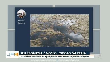 Valther Ostermann comenta sobre esgoto na praia de Itapema - Valther Ostermann comenta sobre esgoto na praia de Itapema