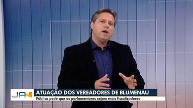 Presidente da Câmara de Vereadores de Blumenau responde perguntas dos telespectadores - Presidente da Câmara de Vereadores de Blumenau responde perguntas dos telespectadores