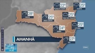 Veja como ficará o tempo em todas as regiões de SC nesta sexta-feira (8) - Veja como ficará o tempo em todas as regiões de SC nesta sexta-feira (8)