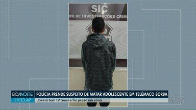 Preso suspeito de matar adolescente após roubo em Telêmaco Borba - Outro suspeito de participar o latrocínio seria um adolescente que ainda não foi apreendido.