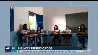 Alunos de escolas de comunidades rurais de Floriano estão sem transporte - Alunos de escolas de comunidades rurais de Floriano estão sem transporte