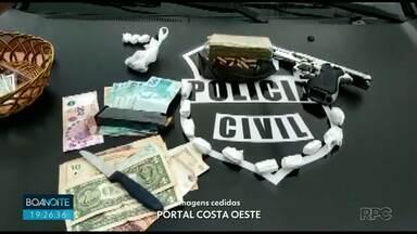 Polícia Civil e Denarc faz operação em São Miguel do Iguaçu - Durante a operação homem de 48 anos foi preso.