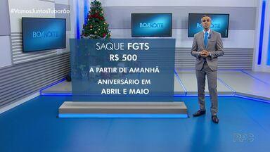 Caixa libera 500 reais do FGTS nesta sexta (08) - Dinheiro estará disponível para saque para os trabalhadores que tenham saldo em conta e nasceram nos meses de abril e maio