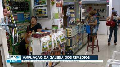 Galeria dos Remédios é ampliada, em Manaus - Mais 311 microempreendedores ocupam novos boxes.