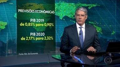 Ministério da Economia aumenta para 0,90% previsão de crescimento da economia - Na Câmara, deputados elevam limite do saque imediato do FGTS para R$ 998.