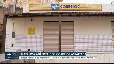 Agência dos Correios é assaltada em Marataízes, no Sul do ES - Trabalhadores foram feitos reféns.