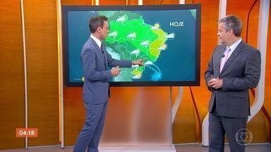 Chuva forte deve atingir Mato Grosso do Sul, Rio de Janeiro e Minas Gerais - Quinta-feira também foi de chuva forte no Centro-Oeste e Sul do país.