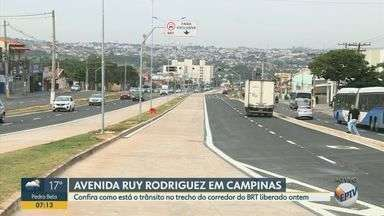 Trecho do corredor da BRT é liberado na Avenida Ruy Rodrigues em Campinas - O intervalo liberado faz parte do corredor Ouro Verde e corta os bairros Jardim Capivari e Jardim Yeda.