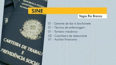 Saiba quantas vagas o Sine Acre oferta para Rio Branco nesta sexta-feira (8) - Saiba quantas vagas o Sine Acre oferta para Rio Branco nesta sexta-feira (8)