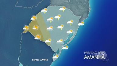 Sábado (9) tem previsão de chuva na maioria das regiões do RS - Assista ao vídeo.