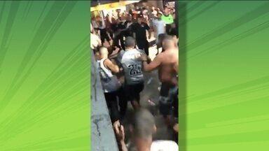 Torcedor do Botafogo é confundido com torcedor do Flamengo e é agredido no Nilton Santos - Torcedor do Botafogo é confundido com torcedor do Flamengo e é agredido no Nilton Santos