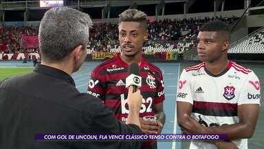 Com gol de Lincoln, Flamengo vence clássico contra Botafogo - Com gol de Lincoln, Flamengo vence clássico contra Botafogo
