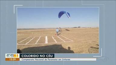 Campeonato Nacional de Paramotor acontece em Linhares, ES - Colorido no céu chamou a atenção.