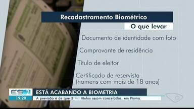 Biometria: previsão é de que 3 mil títulos de eleitores sejam cancelados em Piúma, ES - Eleitores não estão fazendo o cadastramento biométrico.