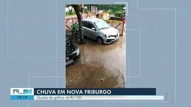 Chuva intensa atinge Nova Friburgo - Assista a seguir.
