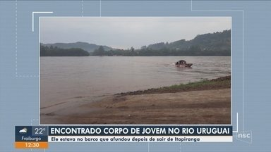 Corpo de estudante desaparecido no Rio Uruguai é encontrado - Corpo de estudante desaparecido no Rio Uruguai é encontrado