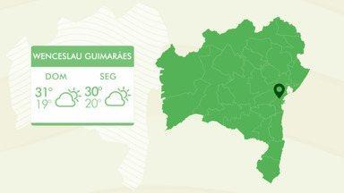 Região sul do estado tem previsão de prevalência de sol e chuva rápida - Confira a previsão do tempo para a Bahia.