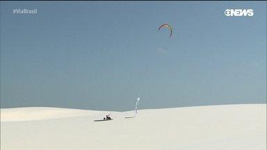 Lençóis Maranhenses, paraíso para os praticantes do kite surf