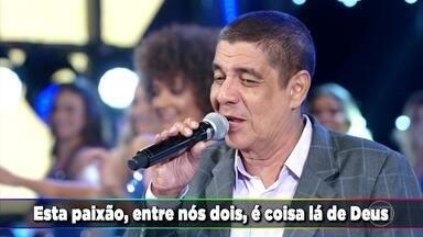 Zeca Pagodinho canta 'Mais Feliz' - O cantor empolga a plateia do 'Domingão do Faustão'