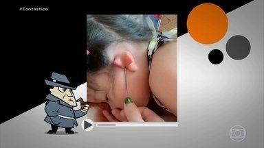 Detetive Virtual: vídeo de bebês que dobram as orelhas é verdade ou mentira? - Basta alguém se aproximar ou encostar nas crianças, que as orelhas se fecham como em um passe de mágica! Será um caso raro e verdadeiro ou um truque barato e mentiroso?