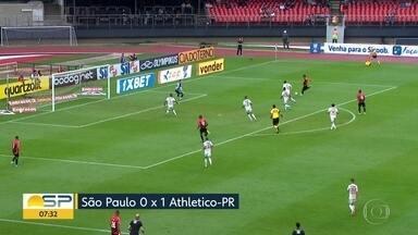 A rodada dos paulistas pelo Brasileirão - Corinthians e Palmeiras empataram no clássico, São Paulo perdeu para o Athletico Paranaense o Santos venceu o Goiás.