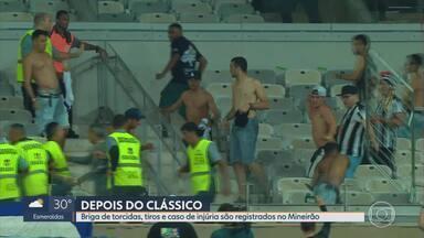PM prende 65 pessoas depois do clássico entre Cruzeiro e Atlético - Briga de torcidas, tiros e caso de injúria racial foram registrados no Mineirão.