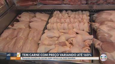 Pesquisa aponta que preços de carnes têm grande variação em açougues de Belo Horizonte - Segundo o site, as carnes bovinas, normalmente mais caras, podem ter diferenças de 160%.