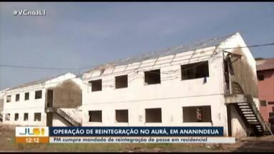 Polícia cumpre mandado de reintegração de posse no bairro do Aurá, em Ananindeua - Polícia cumpre mandado de reintegração de posse no bairro do Aurá, em Ananindeua