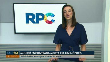 Polícia investiga morte de mulher no distrito de Juvinópolis, em Cascavel - Crime teria ocorrido na madrugada desta segunda (11).