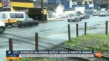 Avenida Getúlio Vargas será parcialmente interditada a partir desta terça (12) - Avenida Getúlio Vargas será parcialmente interditada a partir desta terça (12) em Joinville
