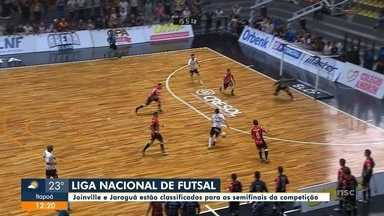 Futsal de Joinville e Jaraguá se classificam para as semifinais da Liga Nacional - Futsal de Joinville e Jaraguá se classificam para as semifinais da Liga Nacional
