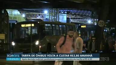 Passagem volta a R$ 3,80 nesta terça-feira (12) em Ponta Grossa - Justiça determina que Prefeitura cumpra com recomendações do Tribunal de Contas do Estado antes de reajustar tarifa.
