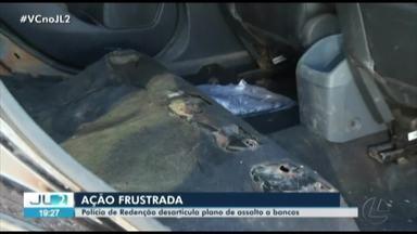 Assalto a agências bancárias é impedido em Redenção, no Pará - Armas e munições foram apreendidas.