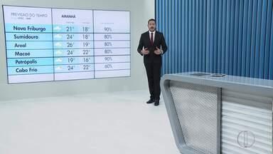Veja a previsão do tempo para esta terça-feira, 11 de novembro - Confira como ficam as temperaturas nas cidades do interior do Rio.