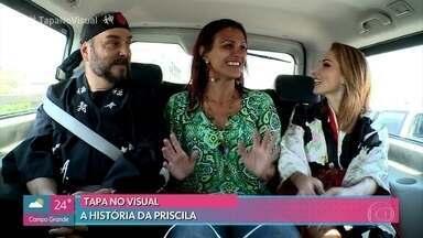 'Tapa no Visual': Priscila conta sua história para Beto Carramanhos e Dani Ferraz - Os profissionais da beleza levam Priscila para um hotel em Mangaratiba (RJ) e fazem uma análise do visual dela