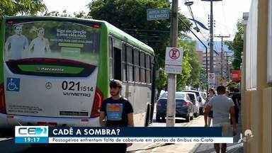 Passageiros enfrentam falta de cobertura de pontos de ônibus no Crato - Confira mais notícias em g1.globo.com/ce