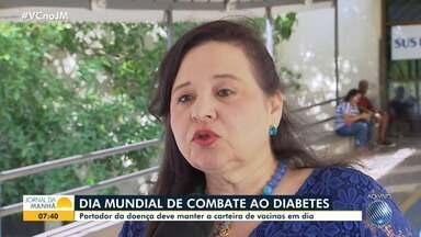 Portador da doença diabete deve manter a carteira de vacinas em dia - Nesta quinta-feira (14), é o Dia Mundial de Combate ao Diabetes.