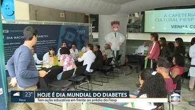 Hoje é Dia Mundial do Diabetes - Tem ação de prevenção em frente ao prédio da Fiesp, na avenida Paulista