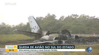 Avião cai em Marau, deixando nove feridos e causa uma morte; vítimas transferidas para HGE - O caso aconteceu na tarde de quinta-feira (14), em uma pista de pouso de hotel em Barra Grande.