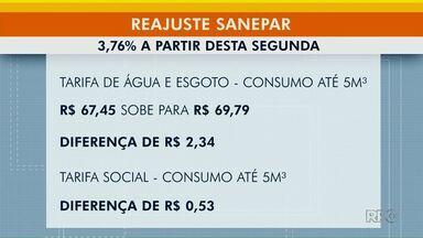 Tarifa de água e esgoto tem reajuste de 3,76% no Paraná - Novo valor passou a valer na segunda-feira (11).
