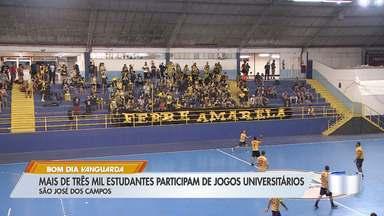 Mais de três mil estudantes participam de jogos universitários em São José - Cidade recebe estudantes de várias partes do estado.
