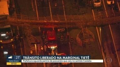 Bom Dia São Paulo - Edição de Sexta-Feira, 15/11/2019 - Passarela cai na Marginal Pinheiros e deixa feridos na noite desta quinta-feira (14). Criminosos atacam pessoas no Centro de São Paulo.