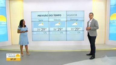 Confira a previsão do tempo para Salvador neste feriado prolongado - Previsão de sol e tempo estável.