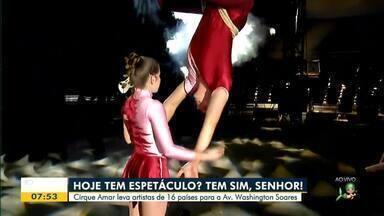 Cirque Amar volta a Fortaleza com artistas de diferentes países - Confira mais notícias em g1.globo.com/ce