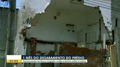 Edifício Andrea: Tragédia completa um mês nesta sexta-feira (15) - Confira mais notícias em g1.globo.com/ce