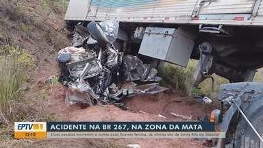 Família de Santa Rita do Sapucaí morre em acidente na BR-267, na Zona da Mata - Família de Santa Rita do Sapucaí morre em acidente na BR-267, na Zona da Mata