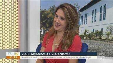 No estúdio do RJ, nutricionista explica diferença entre vegetarismo e veganismo - Segundo pesquisa mais recente do Ibope, Brasil tem 29 milhões de vegetarianos e 5 milhões de veganos.