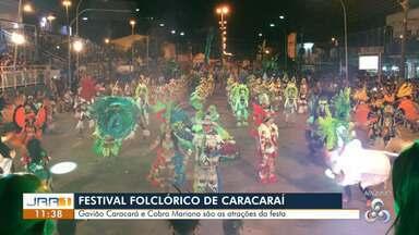 Começa nesta sexta (15) o Festival Folclórico de Caracaraí, no Sul de RR - Tradicional, evento mostra o embate cultural entre os grupos Gavião Caracará e Cobra Mariana.