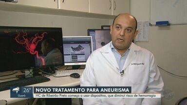 """Hospital das Clínicas da USP usa prótese alemã para tratar aneurisma cerebral - Stent especial permite ao paciente usar menos medicamentos para """"afinar o sangue""""."""